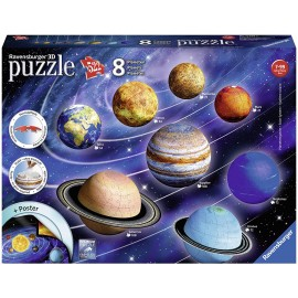 Puzzle 3D Sistema Solare