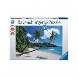 Puzzle Spiaggia con Palmizi